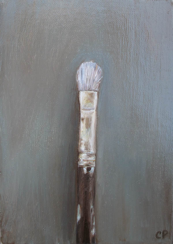 paintbrush 5x7 oil painting