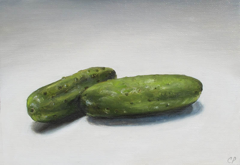 Pickles 5x7 oil painting