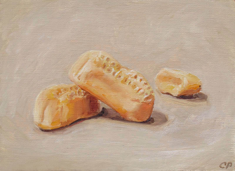 Circus Peanuts 5x7 oil painting